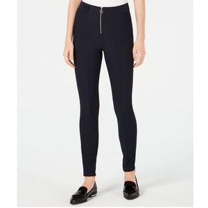 BeBop Pants - Be Bop Juniors Ribbed Zip Ponte Knit Pants